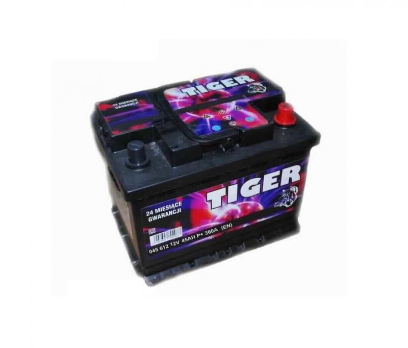Akkumulátor TIGER 45AH jobb+ 360A