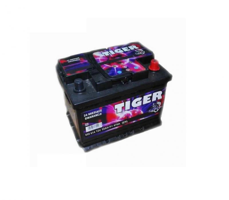 Akkumulátor TIGER 55AH jobb+ 470A