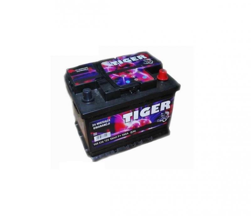 Akkumulátor TIGER 88AH jobb+ 590A