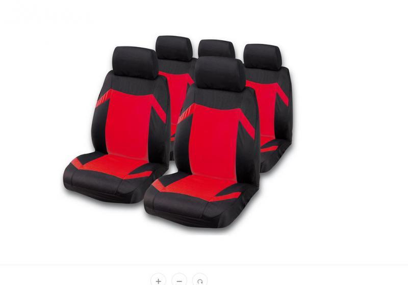 """Bottari Grand Prix """"Keen"""" univerzális autós üléshuzat készlet, piros"""