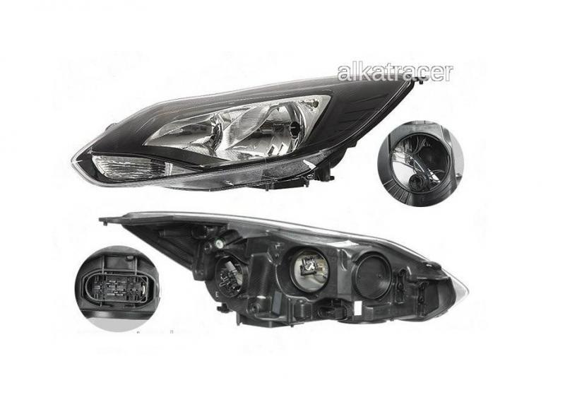 Ford Focus 2011- fekete fényszóró gyári Visteon