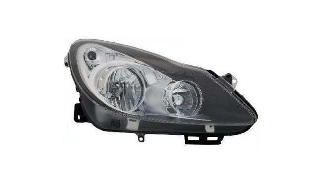Opel D Corsa 2006-2010 fekete betétes  fényszóró