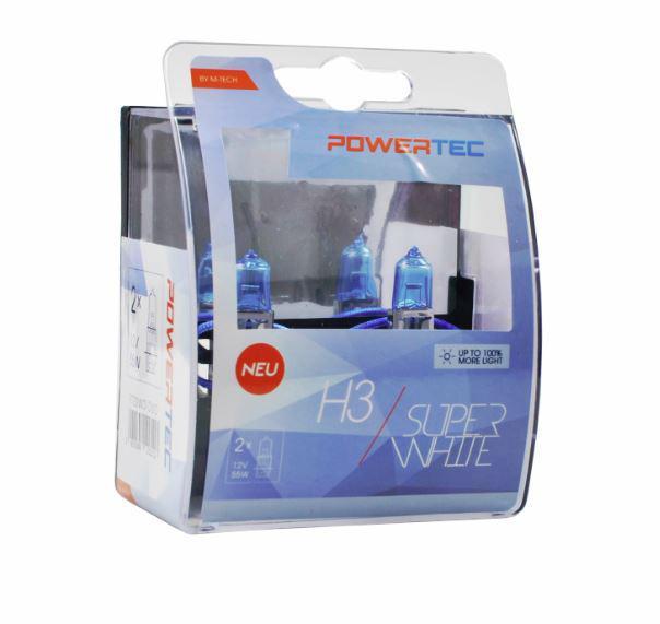 Powertec H3 Super White 100% more light izzók