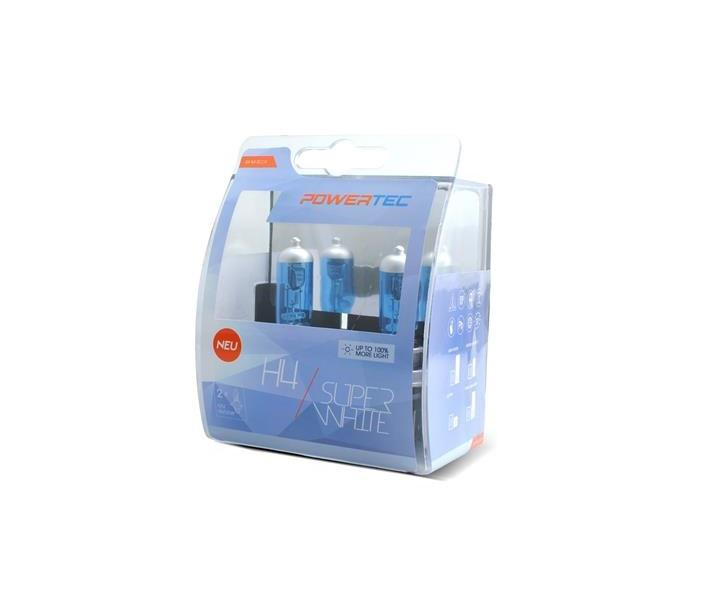 Powertec H4 Super White 100% more light izzók