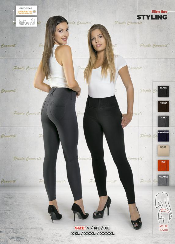 """Alakformáló leggings """"Elegante""""-fekete, vagy sötétbarna"""