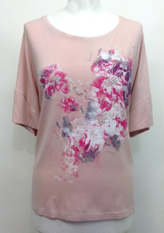 016b74a355 Ejtett vállú rózsaszín póló