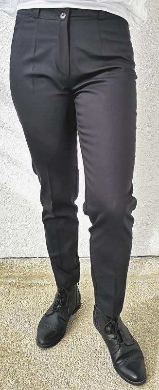 Elasztikus elegáns 95% pamutból 7/8-os nadrág– fekete