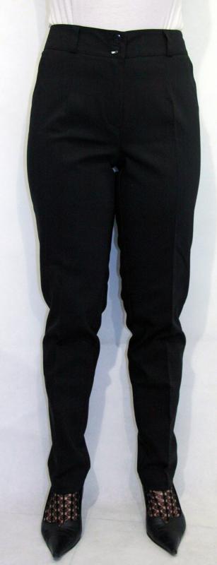 Elasztikus elegáns 95% pamutból nadrág – fekete