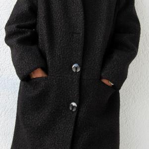 Fekete buklé kabát