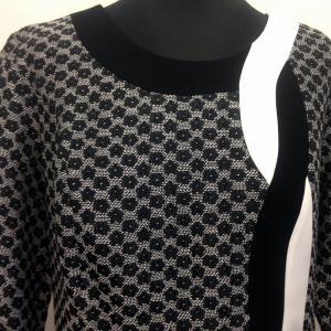 Fekete-fehér ruha hétköznapra