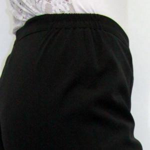 Gumis - cipzáras nadrág – fekete