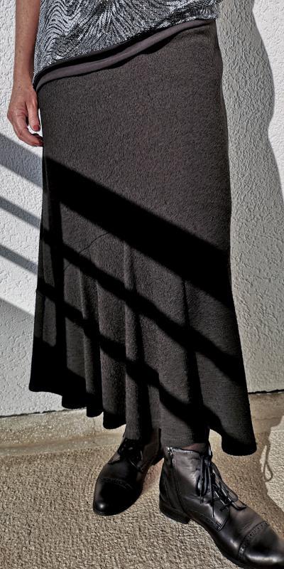 Fekete hosszú szoknya őszi-téli