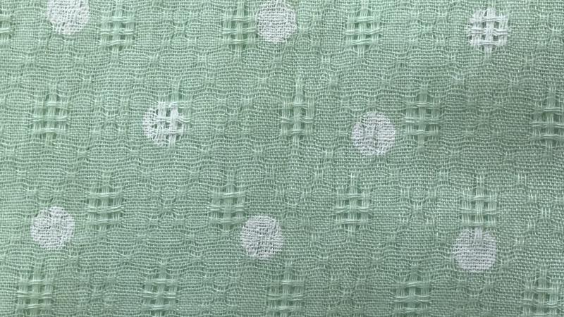 Pamut kiskendő 60x60-as zöld alapon fehér pettyes