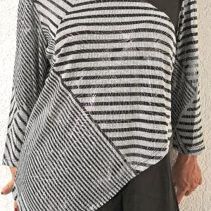 Absztrakt mintás fekete-ezüst lurex tunika