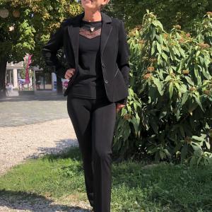 Selyem zsorzsett nadrág fekete