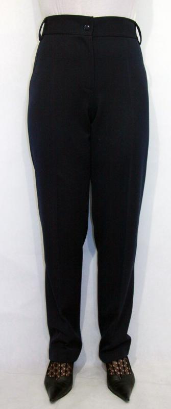 Zsebeinél szatén szalaggal díszített nadrág - sötétkék