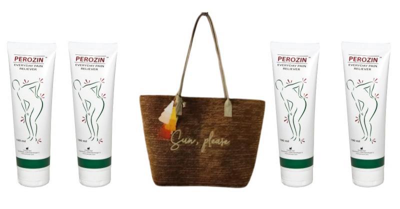 4 db Perozin fájdalomcsillapító krém – 100ml + ajándék egyedi női táska