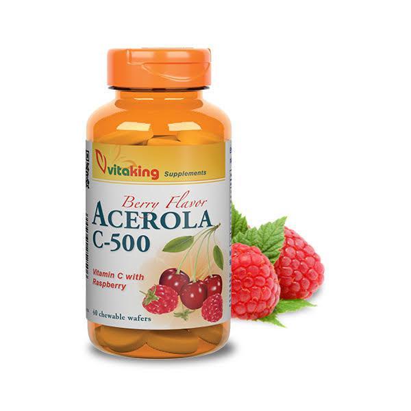 Acerola C-500 málnás (40 rágótabletta) - Vitaking