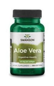 Aloe Vera 25mg (100 gélkapszula) - Swanson