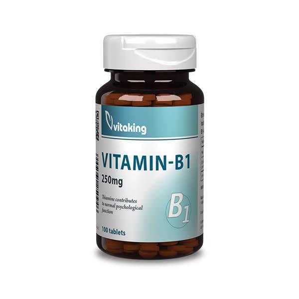 B-1 Vitamin 250mg – Tiamin (100 tabletta) - Vitaking