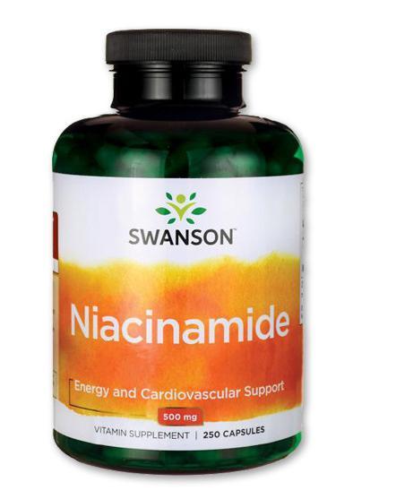 B3-vitamin (Niacinamid 500 mg - 250 kapszula) - Swanson