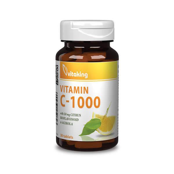 C-vitamin 1000mg bioflavonoidokkal – Vitaking (30)