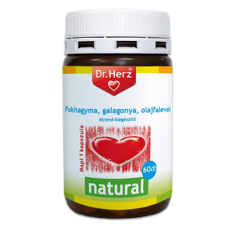 DR Herz Cardio Fokhagyma, galagonya, olajfalevél 60 db kapszula