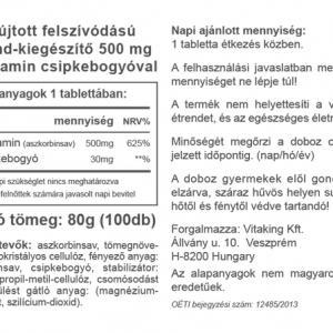 C-500mg TR (100) 30mg csipkebogyóval– Vitaking
