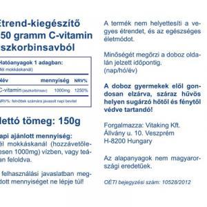 C-vitamin aszkorbinsav por 150g