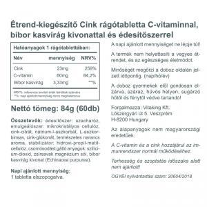 Cink rágótabletta (60) - Vitaking