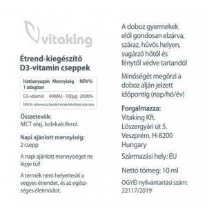 D3 vitamin csepp - Vitaking (2000 NE)