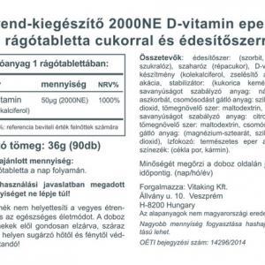 Epres D3-vitamin 2000NE (90 rágótabletta) - Vitaking