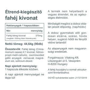 Fahéj kéreg 375mg (90 db)-Vitaking