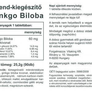Ginkgo Biloba 60mg (90 db)-Vitaking