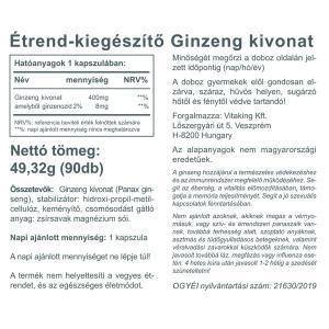 Ginzeng kivonat 400mg (90) - Vitaking