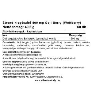 Goji Berry 500mg (60) – Swanson