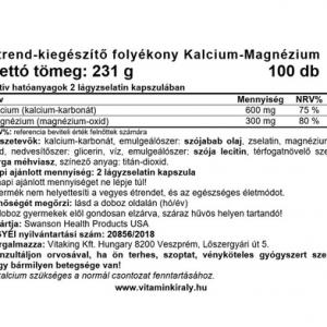 Kalcium & Magnézium folyékony – Swanson