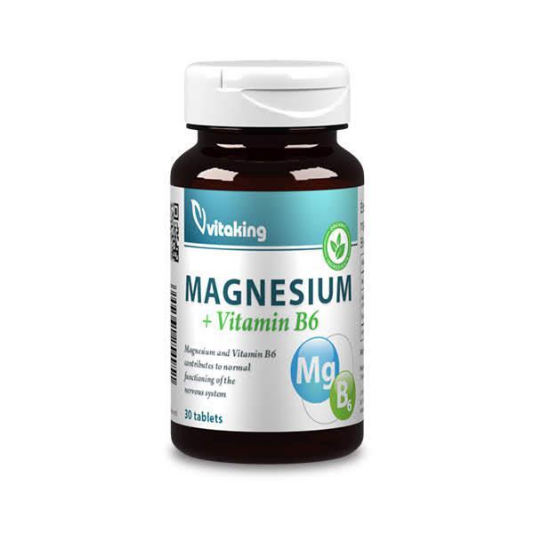 Magnézium citrát + B6 – Vitaking (30)