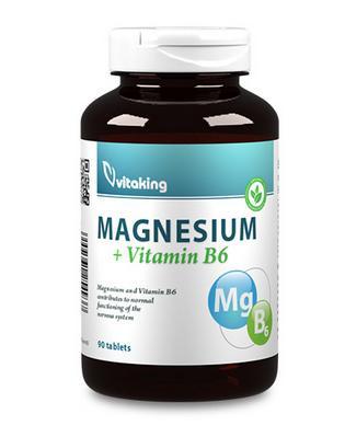 Magnézium citrát+B6 vitamin – Vitaking (90)