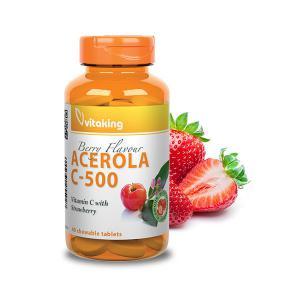 Acerola C-500 Epres ízben (40 rágótab) – Vitaking