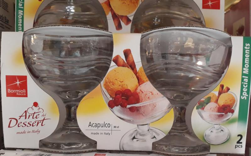 Bormioli Rocco ACAPULCO TRANS. fagylaltkehely, 30 cl, 2db, 119001