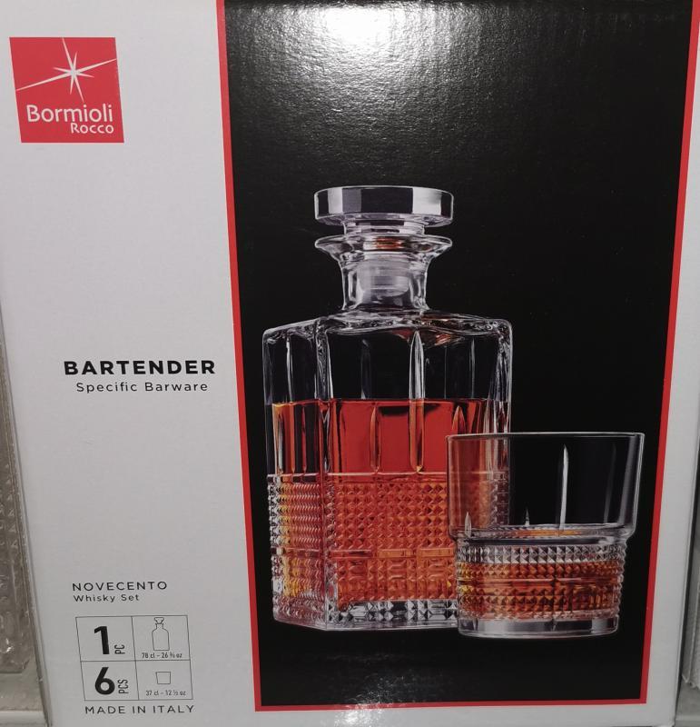Bormioli Rocco Bartender Novecento 7 részes whiskys készlet