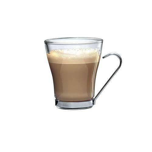 Bormioli Rocco Oslo cappucciner csésze fém füllel, 22 cl, 3 db, 119203