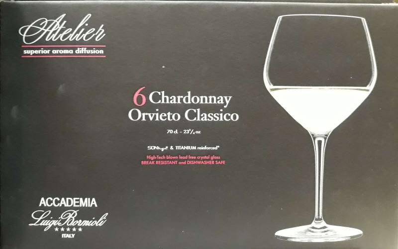 Luigi Bormioli Atelier Chardonnay fehérboros kehely, 70 cl, 6 db, 198093