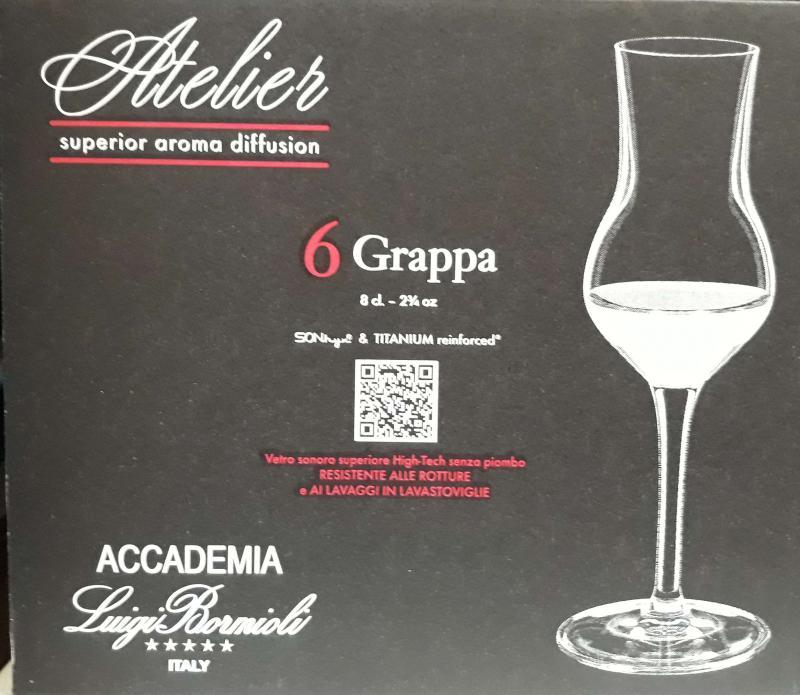 Luigi Bormioli Atelier Grappa pohár 8 cl, 6 db, 198857