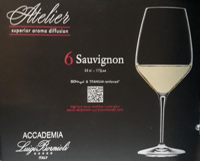 Luigi Bormioli Atelier Sauvignon talpas boros pohár, 35 cl, 6 db, 198210