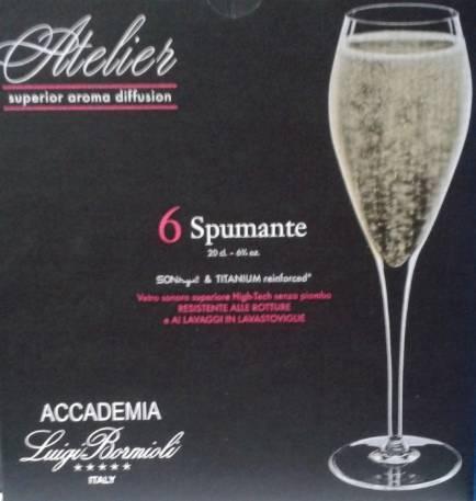 Luigi Bormioli Atelier Spumante pezsgős pohár, 20 cl, 6 db, 198203