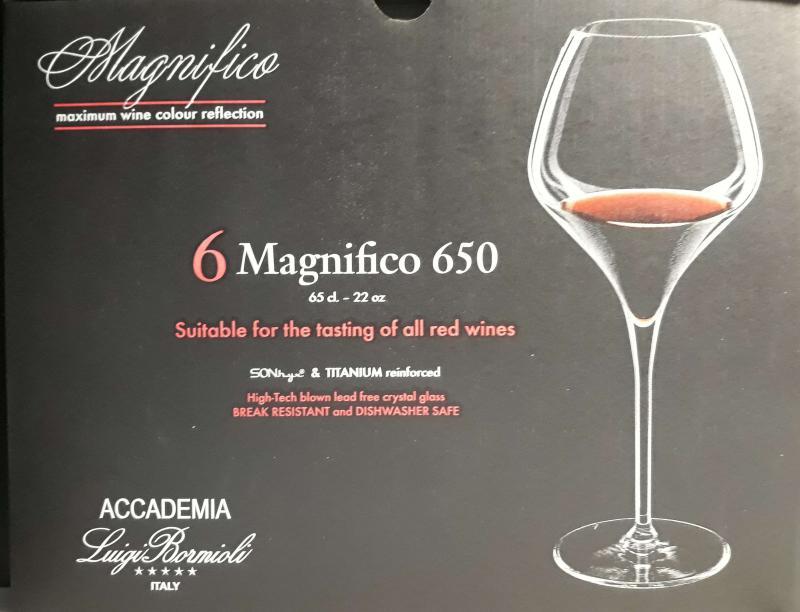 Luigi Bormioli Magnifico 650 boros pohár, 65 cl, 6 db, 198158