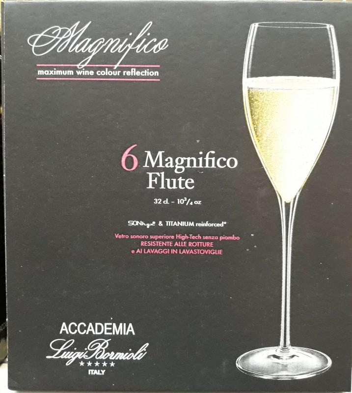 Luigi Bormioli Magnifico pezsgős flőte, 32 cl, 6 db