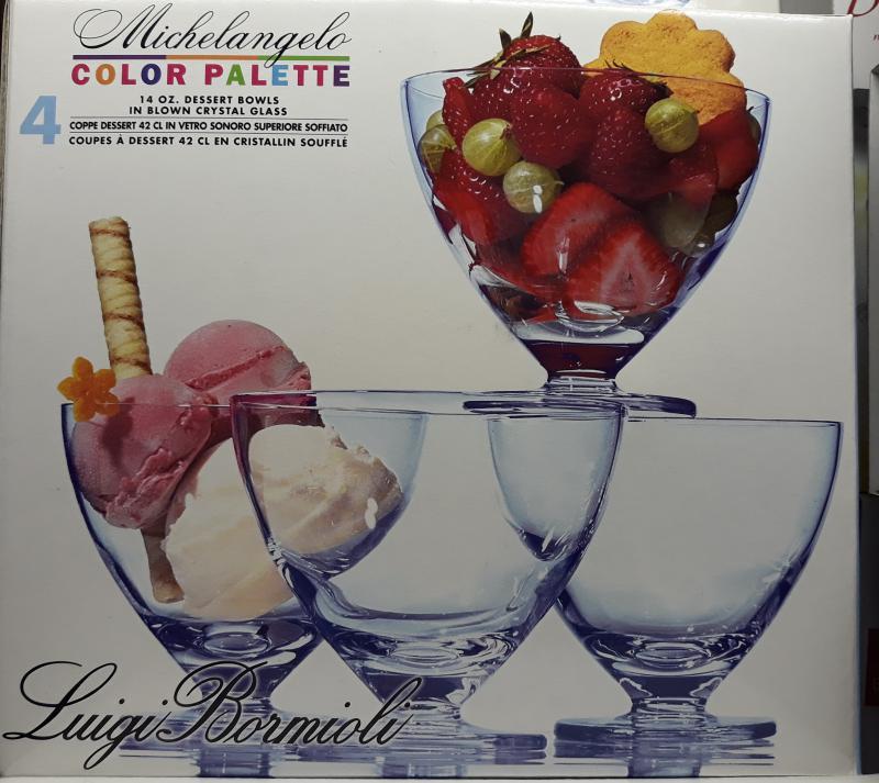 Luigi Bormioli Michelangelo Saphir fagylaltkehely, 4 db, 42 cl, 198164